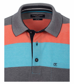 Polo Shirt Blauw/Oranje 903339000-451 mt 53/54 (6XL)