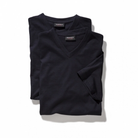 V-hals T-Shirt Navy  9302-01 6XLARGE DUO-PACK