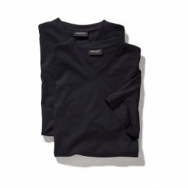 V-hals T-Shirt Navy  9302-01 4XLARGE DUO-PACK