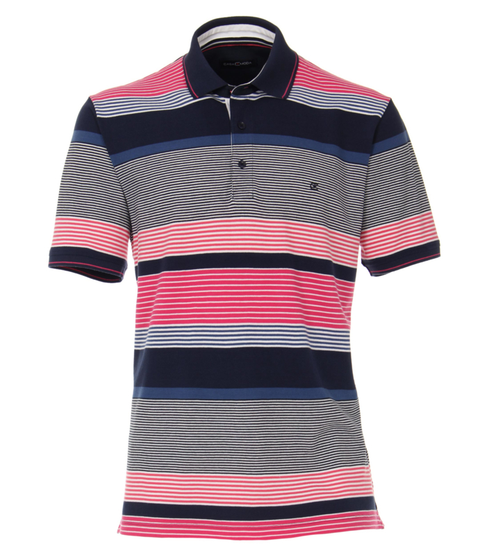 Polo Shirt Blauw/Roze 903441500-924 mt 51/52 (5XL)