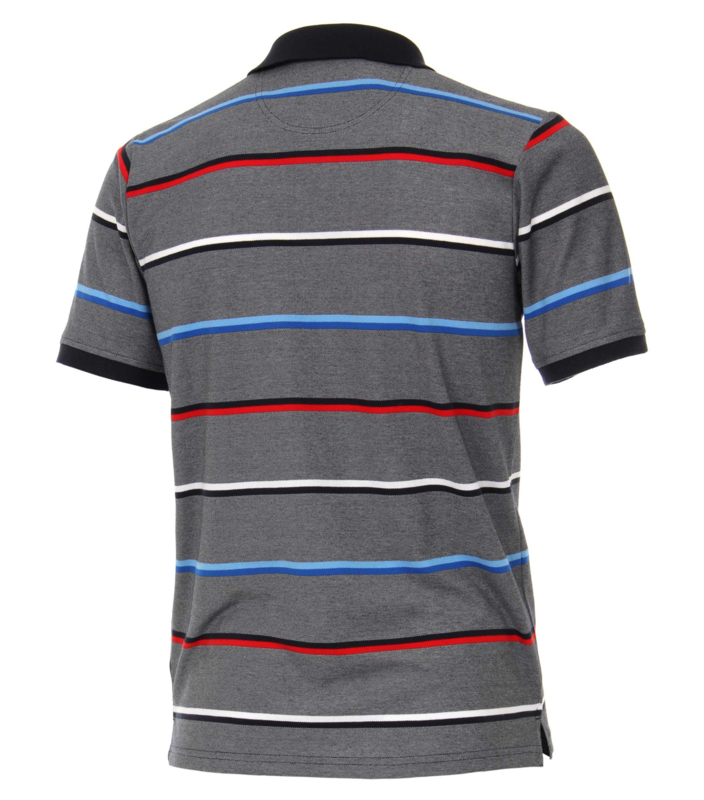 Polo Shirt Blauw/Rood 903338900-108 mt 51/52 (5XL)