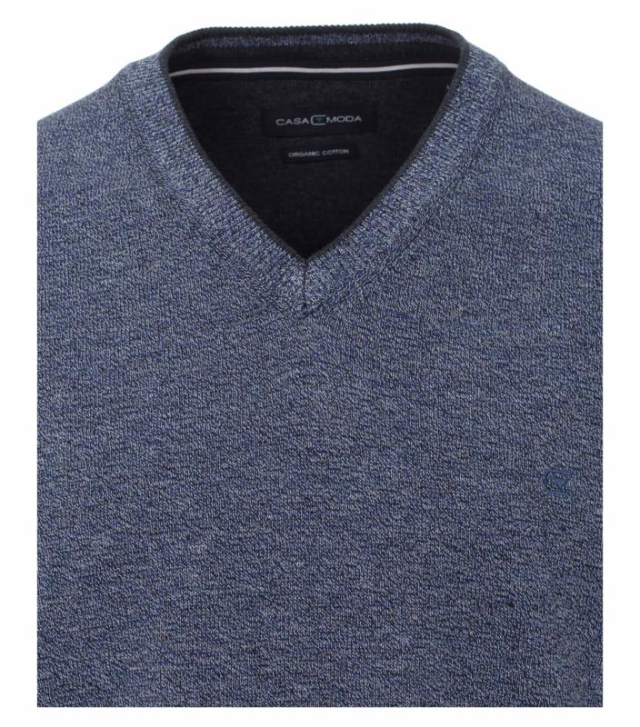 V-hals Trui Blauw (Jeans) 403490500-140 6XLARGE