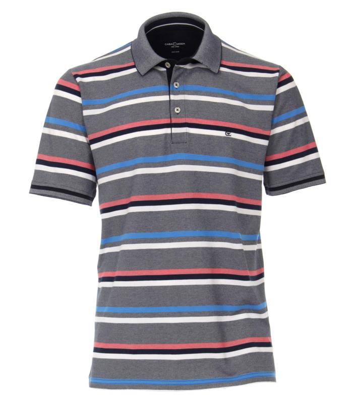 Polo Shirt Blauw/Roze 903443300-147 mt 51/52 (5XL)