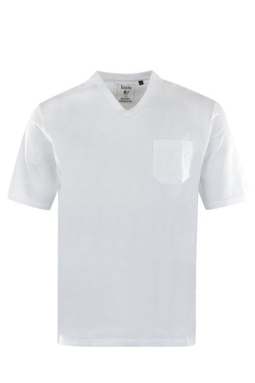 V-hals T-Shirt Wit 20003/4/200 6XLARGE