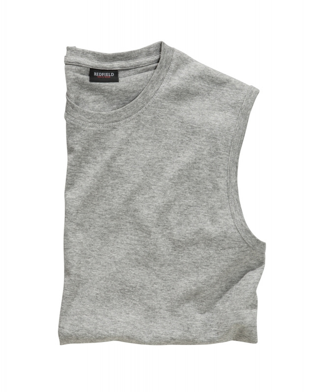 Mouwloos T-Shirt Grijs (Licht)  9309-89 6XLARGE