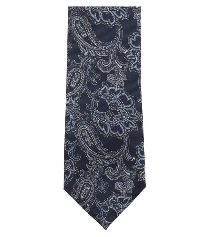 Stropdas Blauw Dessin 193301500-101