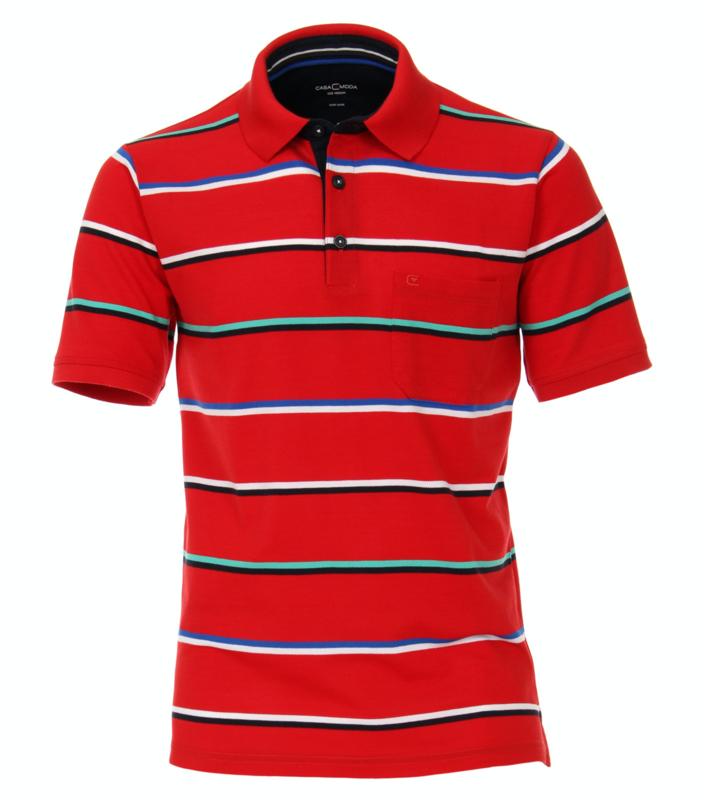 Polo Shirt Rood 903338900-427 mt 51/52 (5XL)