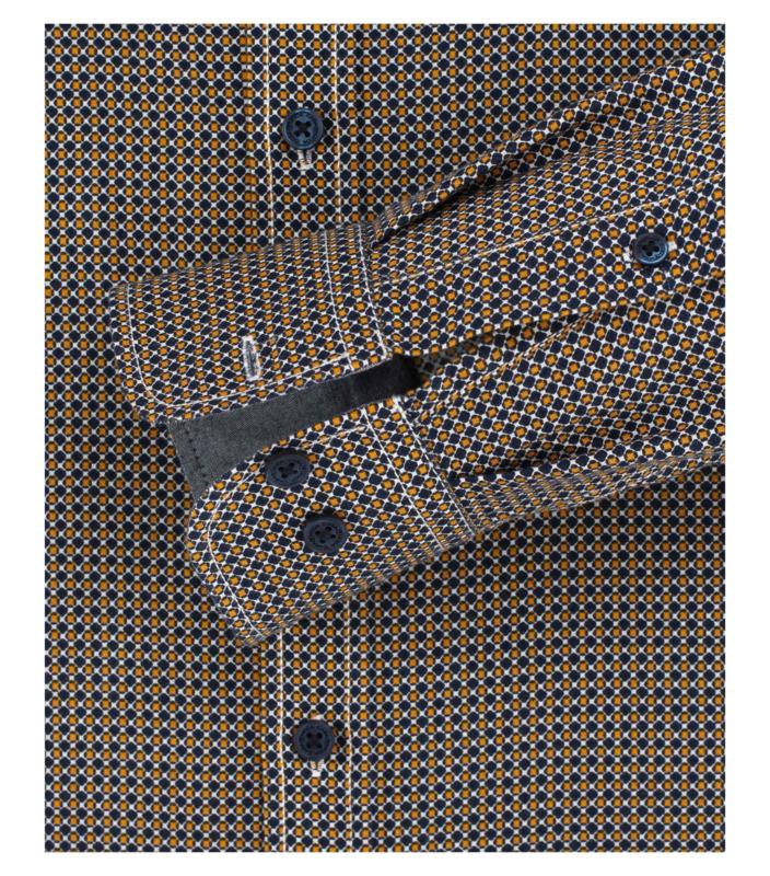 Blauw/Oker Dessin 403491100-500 mt 51/52 (5XL)