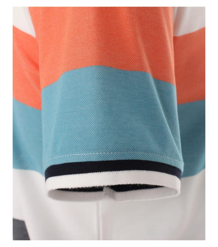 Polo Shirt Blauw/Zalm 903443300-456 mt 53/54 (6XL)