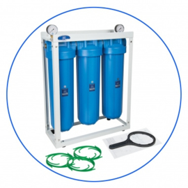 "Big Blue 20"" filtratiesysteem 3 staps grondwaterfilter"