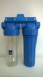 """Waterfilter twin set 3/4"""" aansluitingen"""