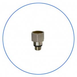 Nippel voor drukmeter op filterhuis te monteren