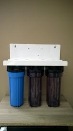 """Waterfilter 3 staps zonder filterpatronen, 3/4"""" aansluitingen  (ENKEL OP BESTELLING !   LEVERING 10 WERKDAGEN )"""