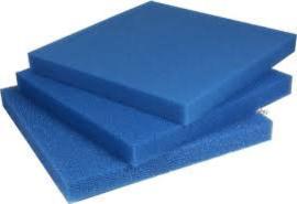 Blauw filter schuim fijn50x50x2cm
