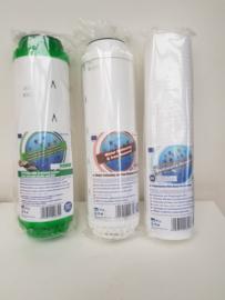 Vervangset  3-Staps DrinkWater Filtratie Systeem  3 filterpatronen