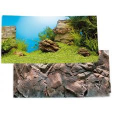 Juwel achterwand poster 1 L 100x50 cm onderwaterlandschap / rotsmotief