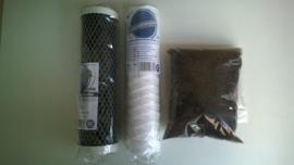 Cartouches et résine de remplacement pour osmoseur DI