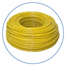 Tuyau pour osmoseur de couleur jaune 1/4.