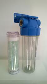 """Anti-kalk filter met polyfosfaat , 3/4"""" aansluitingen"""