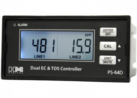 HM digital PSC-64D: Dual Display, Dual Line EC/TDS Monitor w/ 4-20mA Output