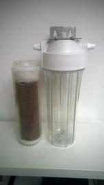 """Demineralisatie en Silicaatfilter + Filterhuis 10"""" met beugel"""