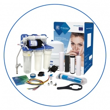 Zelfbouw huishoudelijk 5 staps osmosesysteem met opslagtank en boosterpomp