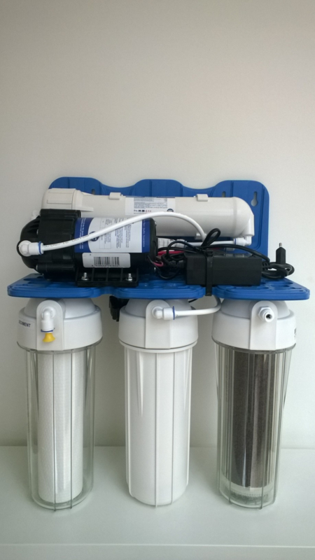 Osmosetoestel Rush Osmo 100 DI met boosterpomp