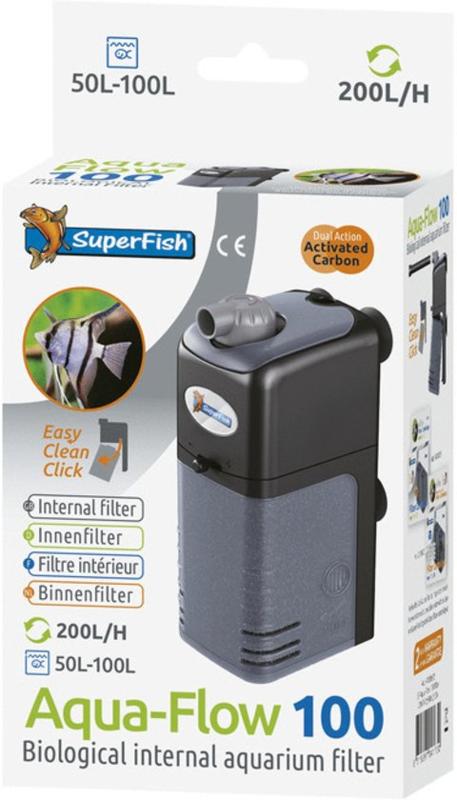Filtre Interne - Aqua Flow 100 L - 200 l/h Max - (Superfish)