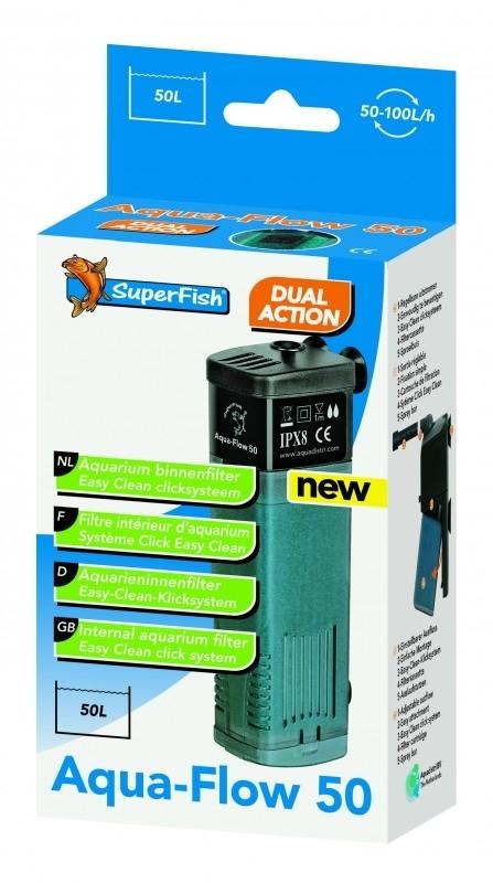 Filtre Interne - Aqua Flow 50 L - 100l/h Max - (Superfish)