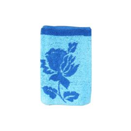 Washandje vintage retro blauw donkerblauw