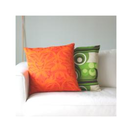 Kussenhoes oranje retro vintage