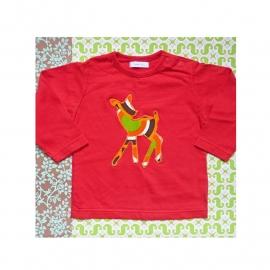 Bambi t-shirt maat 74 rood