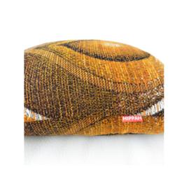 Kussenhoes retro druppel in bruin oranje