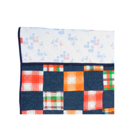 Speelkleed jeans en retro patchwork