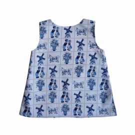 Delfts-blauw jurkje maat 68