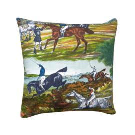 Kussenhoes met paardenprint seventies retro