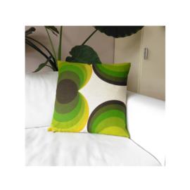 Kussenhoes retro cirkels groen jaren 70