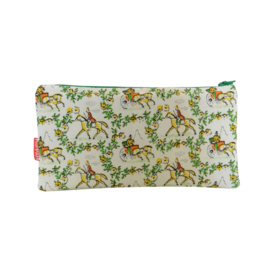 Etui make-up tasje retro paarden print