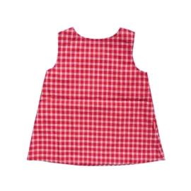 Rood wit retro jurkje maat 68