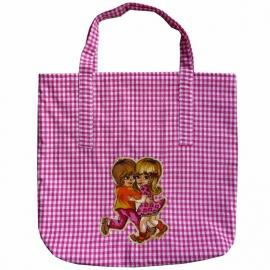 Shopper boodschappentasje roze