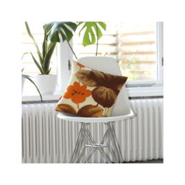 Kussenhoes oranje bruin retro vintage