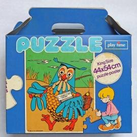Fabeltjeskrant meneer de Uil puzzel blauw