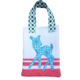 Kindertas wollen deken Bambi hertje