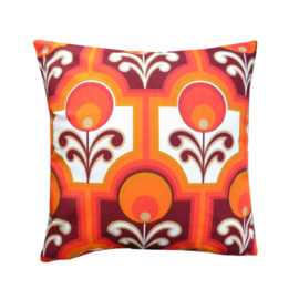 Kussenhoes retro oranje rood