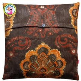 Kussenhoes patchwork bruin
