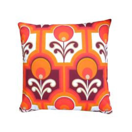 Kussenhoes retro oranje rood jaren 70