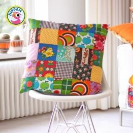 Kussenhoes retro patchwork multicolor