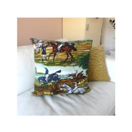 Kussenhoes met paardenprint retro vintage