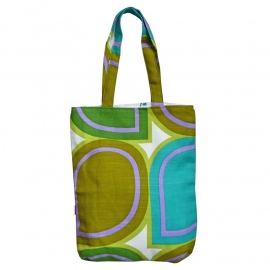 Tote bag seventies groen oker