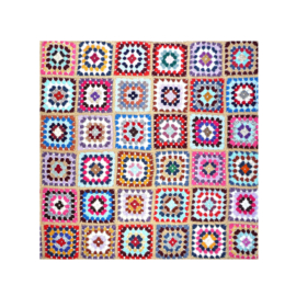 Gehaakte babydeken granny square multicolor